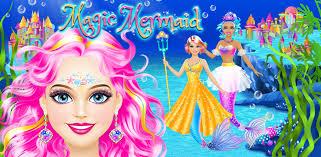 magic mermaid s makeup dress up salon game