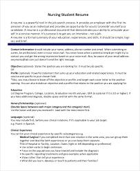 Nursing Graduate Resume Nursing Student Resume Template Business