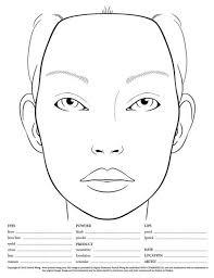 Blank Makeup Face Chart Pdf Saubhaya Makeup