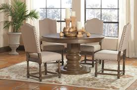 Coaster Willem  Piece Round Single Pedestal Table Set Value - San diego dining room furniture