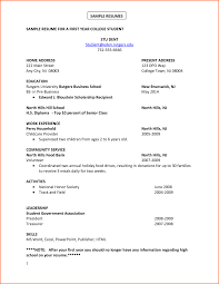 Resume For College Application How To Writedent Resume High School For College Application 55
