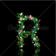 Romantic Letter Interesting Letter Of Romantic Flowers R GL Stock Images