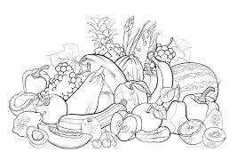 Small Picture Fruits 1 Flowers and vegetation Coloring pages for adults