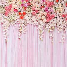 Wedding Photo Background 5x5ft Pink Flowers Backdrop Wedding Photography Background Studio Prop D 9192