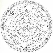Mandala Coloring Page Dolphins Mandelas Mandala Disegni Di