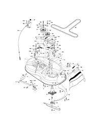 Lt 1000 craftsman riding lawn mower parts diagram