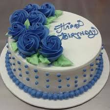 Send Beautiful Cake With Flowers Design On Top Online Free