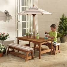 theminimanor com au kidkraft outdoor table bench set with cushions umbrella