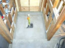 how to install a shower pan on a concrete floor shower pan liner installation concrete floor