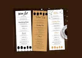 Design A Menu Free 15 Wine Menu Designs Editable Psd Ai Format Download