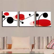 wall paintings for office. 3 Pcs/Set Abstract Canvas Wall Art Picture Black And Red Modern  Paintings Office Pictures-in Painting \u0026 Calligraphy From Home Garden On Wall Paintings For Office