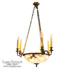 antique french louis xvi neoclassical bronze alabaster chandelier