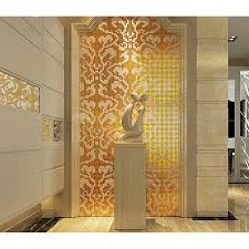 gold and cream mirrored glass mosaic tile murals frosted crystal collages backsplash mirror tile puzzle wall
