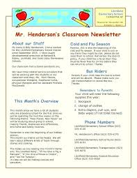 Class Newsletter Elementary School Newsletter Template Free Editable Teacher
