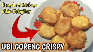 Inilah resep masakan ayam tepung sangat sederhana dan murah.menu masakan dari bahan utama ayam ini di goreng setelah dibungkus tepung terigu. Resep Cara Membuat Ubi Goreng Crispy Renyah Gurih Dan Enak Youtube