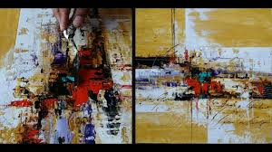 abstract painting acrylic paints palette knife easy palette knife demonstration