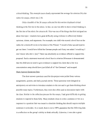 Essay About Critical Thinking Critical Thinking Analysis Paper Examples Of Critical Analysis