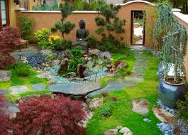 View in gallery Japanese Garden design blended with a western touch and  sporting a Buddha at its heart