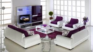 purple living room furniture. Living Room:Chic White Color Scheme Room With Purple Accent Idea Chic Furniture T