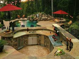 Backyard Designs With Pool And Outdoor Kitchen Awesome Kitchen Impressive Outside Kitchen Ideas Outside Kitchen Sink