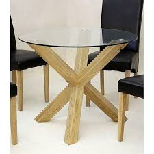... Chinon Round 95cm Glass Dining Table With 4 Leather Chairs ...