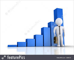Businessman With A Rising Graphic Chart Royalty Free Stock Illustration