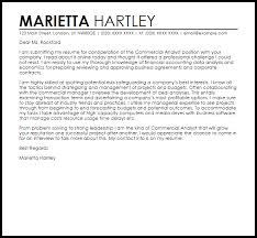 commercial analyst cover letter sample accounts receivable analyst cover letter
