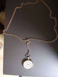 women s pendant watch with necklace silver