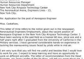 Aerospace Engineering Cover Letter Forest Jovenesambientecas Co