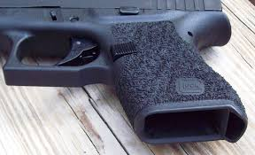 below a glock 43 with 360 low wrap stip tex hi grip cut and mag well beveling cost of this package p o r