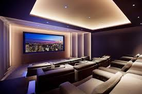 modern home theater. gray wall in home theatre alluring designs modern theater