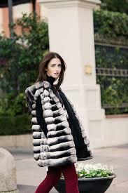 fur wearing chinchilla coat chinchilla coat with hood milano