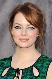 emma stone redhead makeup