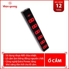 Ổ cắm ECO 6 lỗ 2 chấu dây 5m Điện Quang ĐQ ESK 5BR 62ECO, Giá tháng 8/2020