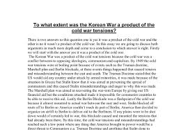 to what extent was the korean war a product of the cold war  document image preview