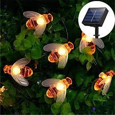 2019 Hot 5M <b>20 LED Solar Powered</b> Bee String light Fairy String ...