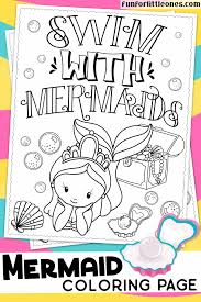 The mermaid luchia in a bathtub. Mermaid Coloring Page For Kids Fun For Little Ones