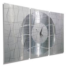 Small Picture silver wall clocks contemporary for room decoration Wall Clocks