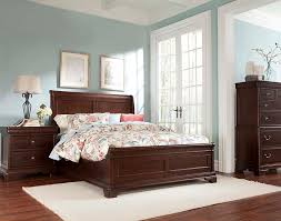 Provence Bedroom Furniture Provence Louis Phillipe Dark Cherry Finish Sleigh Bed