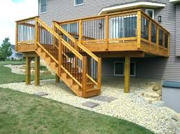 outdoor stair railing ideas interior wood deck for engaging step exterior designs building stairs diy garden