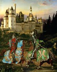 king arthur and his knights of the round table knights duel combat castle king and king