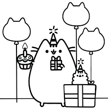 Pusheen Coloring Pages Mermaid Free Collection Of Coloring Pages