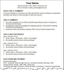 Sample Skills In Resume Resume Key Skills Accounting Accounting