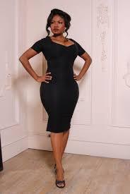 Pinup Couture Priscilla Dress in Black Bengaline – pinupgirlclothing.com