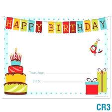 Custom Gift Certificate Templates Free Free Customizable Birthday Certificate Template Custom Gift