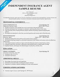 independent insurance agent resume sample insurance agent sample resume