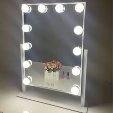 aoleen hollywood makeup vanity mirror with light dimmable lighted tabletop mirror with led bulbs two kinds