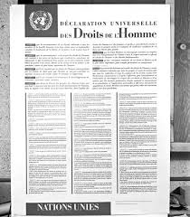 united nations audiovisual library of international law the declaration of human rights as a poster in french