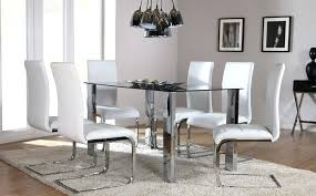 glass chrome dining table the glass chrome dining set white at furniture choice novara chrome and