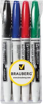 Brauberg Набор маркеров для доски 4 цвета 150850 — купить в ...